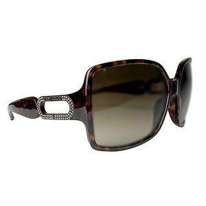 Jimmy Choo Tyler Havana Crystal Studded Sunglasses